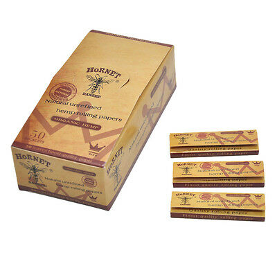 50X 70*33MM Hornet Natural Unrefined Brown Smoking Rolling Papers 50leaves