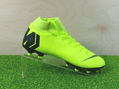 cheap for discount 997d4 15c9f NIKE MERCURIAL SUPERFLY 6 Academy MG Soccer Cleats Volt Black AH7352-701  Mens 9