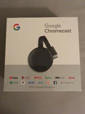 Google Chromecast (3rd Generation) - Charcoal BRAND NEW and FACTORY SEALED!