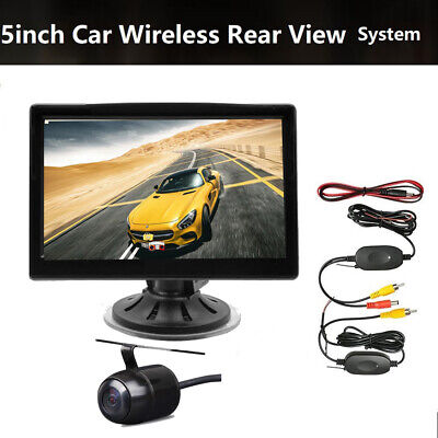 "2.4GHz Wireless Backup Camera Night Vision 5"" Car Rear View Reversing Monitor"