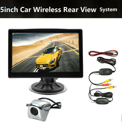 Wireless Backup Camera & 5''Monitor Kit Rear View System Night Vision Waterproof
