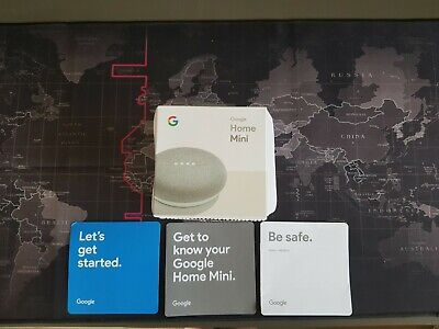 Google Home Mini Smart Assistant - Chalk - Used once then put back in box
