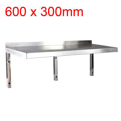 BRAND NEW 600mm x 300mm STAINLESS STEEL WALL SHELF, shelving, display unit