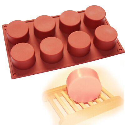 Round Cylinder Circle Silicone Soap Mold Chocolate Muffin Cupcake Bakeware Pan