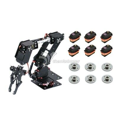 6DOF Unassembled Mechnical Arm Robot+6*MG996R Analog Servo +6*Metal Servo Wheel