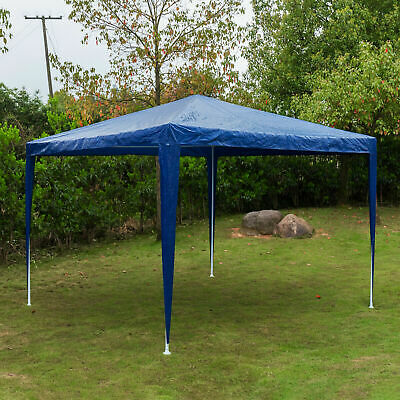 Gazebo Marquee Canopy Pop-up Waterproof Garden Wedding Party Tent Blue 2Mx2M