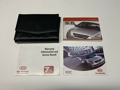KIA CEE'D (2006 - 2009) Owners Manual / Handbook With Service Book & Case Wallet