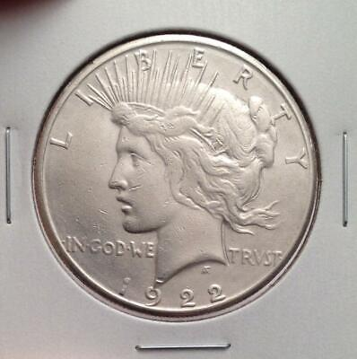 1922-S Silver Peace Dollar - Really Nice Circulated Coin - 1st Year S-Mint Peace