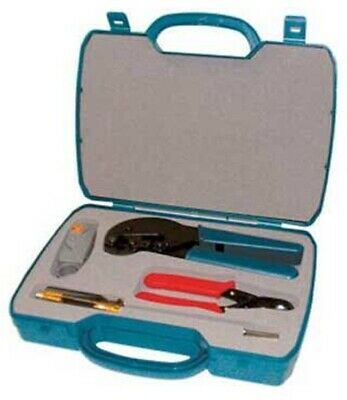 Matchmaster PROFESSIONAL COAX CABLE INSTALLERS CRIMPING KIT 4-Tools