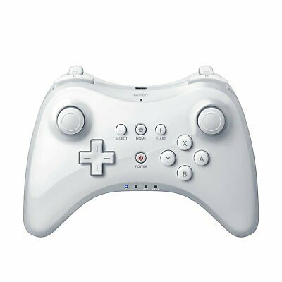Wireless-Weiß Joystick Gamepad Pro Controller Für Nintendo Wii U Mit Kabal Apr