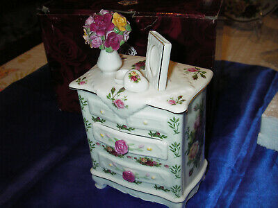 NEW BOXED ROYAL ALBERT Old Country Roses  Musical dresser NOS
