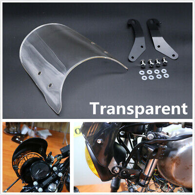 """1 Set Durable Transparent Motorcycle Windshield Cover For 5""""&7"""" Round Headlights"""