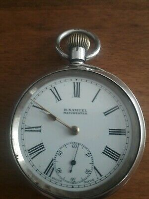 Lovely Silver H Samuel Pocket Watch Working