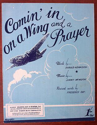 Comin' On A Wing And A Prayer, Song, Sheet Music - UK Shilling