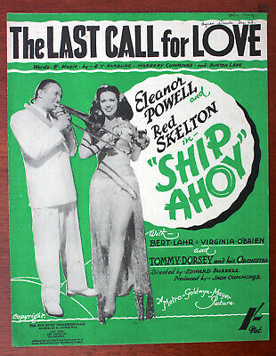 """The Last Call For Love, Eleanor Powell, Red Skelton, """"Ship Ahoy"""" - UK Shilling"""