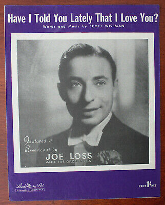 Have I Told You Lately That I Love You? Joe Loss, Song - UK Shilling