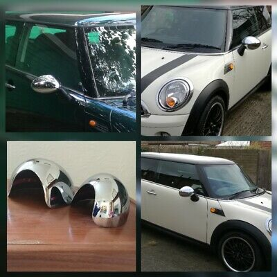 Mini One Cooper Convertible Roadster (2006-13) Chrome Door Mirror Covers