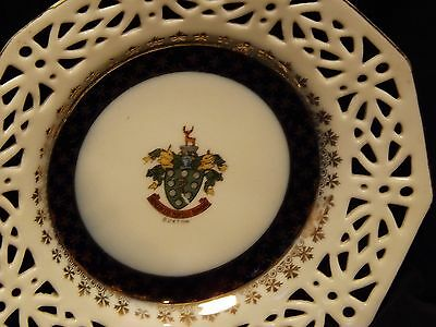 Vintage Commemorative Plate Gold Gilding Buxton Council Coat Of Arms By Foreign