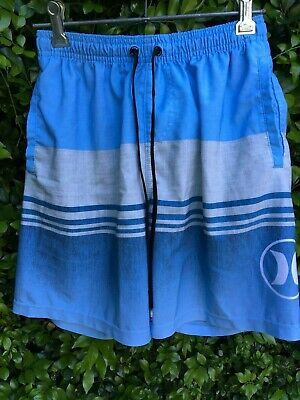 Hurley boy's blue shorts elasticised waist size 12 VERY GOOD CONDITION