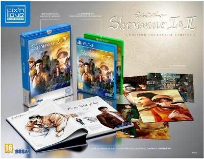 SHENMUE I & II EDITION COLLECTOR LIMITÉE -  PS4 Version - FR - NEUF - EN RUPTURE