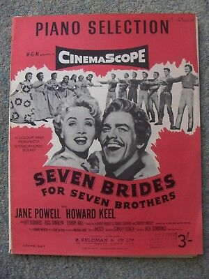 Seven Brides for Seven Brothers Piano Selection - Vintage sheet music