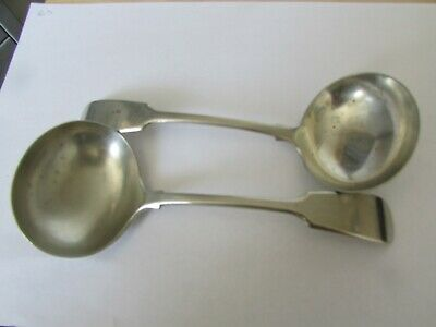 2 Afghan Silver Ladle Type Spoons Uk Delivery Only