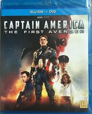 Captain America - The First Avenger - Blu Ray+ Dvd (2011) Marvel (Sweden Import)