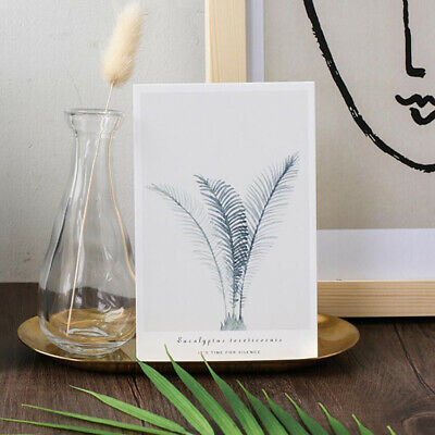 1 pack Postcard Green Leafy Plants Shape Style Wish Cards Gifts Greeting Card N7