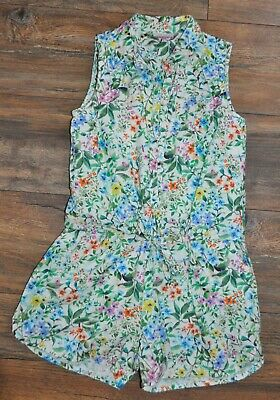 NEXT Girls FLORAL Playsuit Outfit Summer Holiday Shorts Age 9 Years