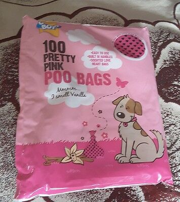 Good Boy Pretty Pink Dog Poo Bags - Pack of 100