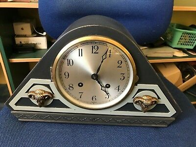 Vintage Mantel Clock, Chiming, Unusual Design - Heathlands Animal Charity Sale