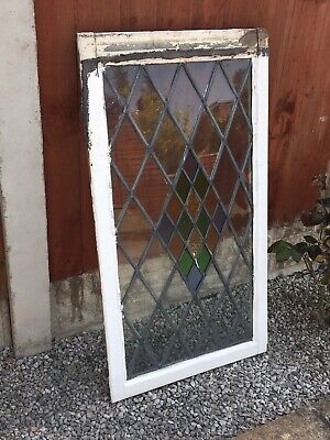 Period Stained Glass Leaded Wooden Windows X3