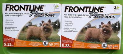 Frontline Plus Flea & Tick Treatment Dogs  5-22 Lbs   6 Doses Ea  New