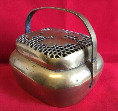 Antique Chinese Brass Hand Warmer / Incense Burner