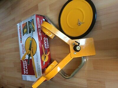 roadster wheel clamp car caravan boat trailer