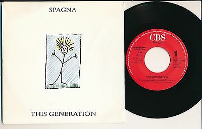 "Spagna 45 Tours 7"" Hollande This Generation"