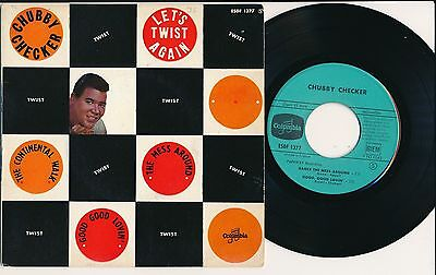 Chubby Checker 45 Tours Ep France Let's Twist Again