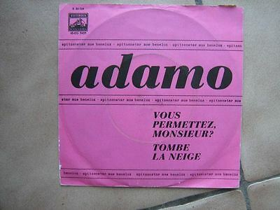 Adamo 45 Tours Germany Tombe La Neige