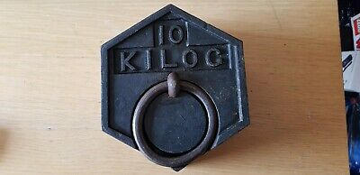 10kg hexagonal cast iron weight with ring