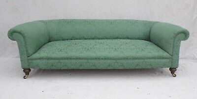 LARGE VICTORIAN EDWARDIAN ANTIQUE CHESTERFIELD SOFA SETTEE c1900