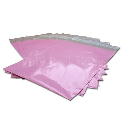 """25 x PINK Mailing Bags 12.5x17""""(320x440mm) MEDIUM Mailers for POSTAL Delivery"""