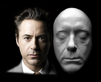 Robert Downey Jr. Life Mask Tony Stark Iron Man Prosthetic Lifecast Hot Toys