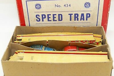 Marx England - Speed Trap Tinplate - Trap Car Course With Clockwork Motor In Box