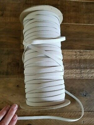 "Partial Roll of 1/4"" Knitted Elastic White Approx. 175 yds"