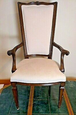 Antique Queen Anne Style Dining Captain's Arm Chair