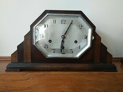 Vintage Art Deco Mantel Clock By Hamburg American Clock Company In Good...
