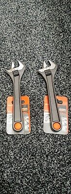 """2 x Bahco Adjustable Spanner Wrench 8"""" - 8071 - Hand Tools"""