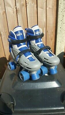 Blue/Grey SFR Racing Storm Roller Boots Size 3-6