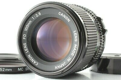 【 EXC+++++ 】 Canon New FD 100mm f/2.8 NFD MF Lens w/ Cap Filter from JAPAN #595