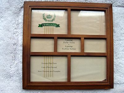 "Walnut Wood Collage Picture Frame by Heirloom 11-1/2"" x 11-1/2"" Square"